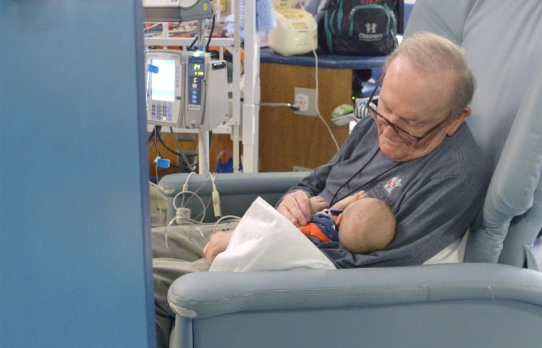 For 12 years, David Deutchman has been holding babies and caring for moms at Children's Healthcare of Atlanta  Credit: Children's Healthcare of Atlanta